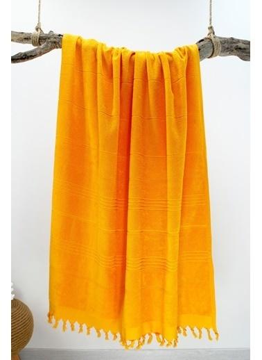 Bedinn N 90 X 180 Cm Pamuk Ipliği Yıkanabilir Oranj Peştemal Havlu Oranj